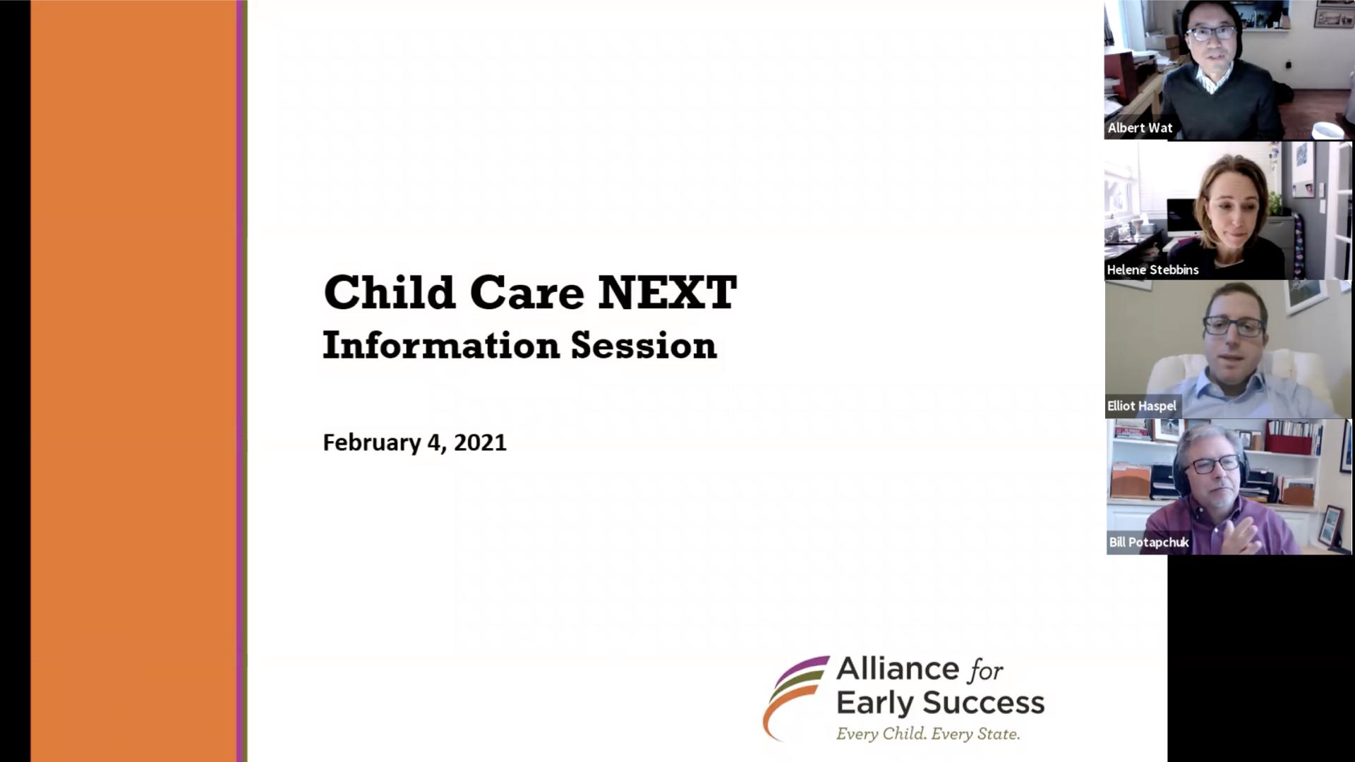 Child Care NEXT Intro Session