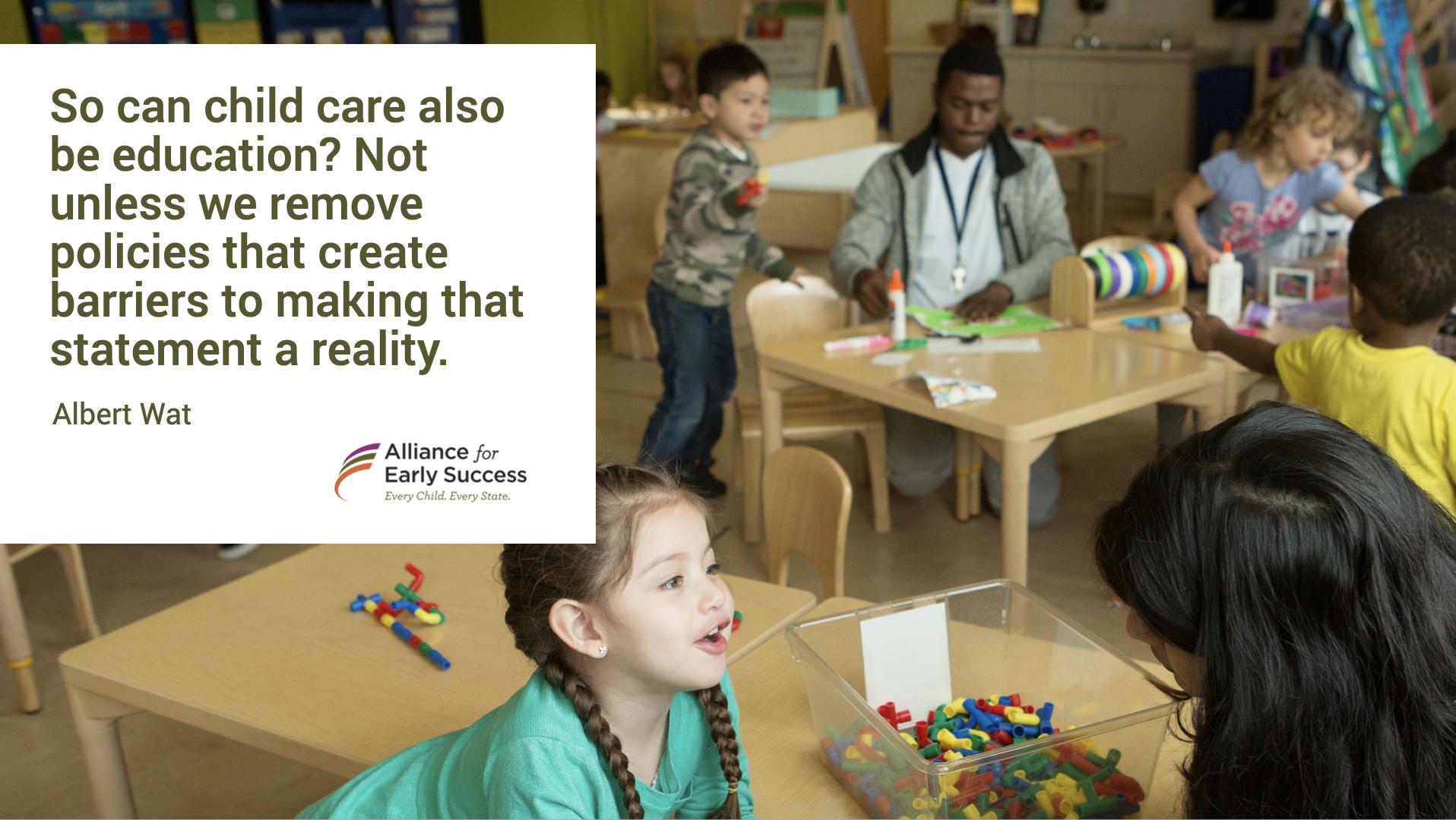 Child care and Pre-k